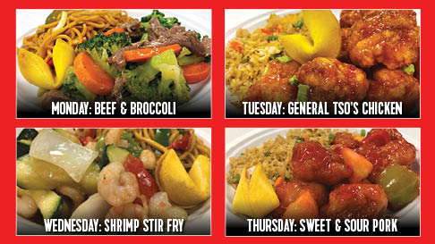 Asian Blue Plate Specials